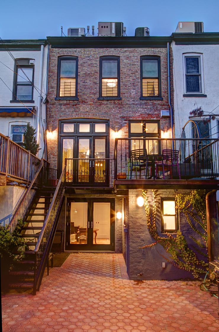 Park Slope Brownstone Colonial style houses by Ben Herzog Architect Colonial