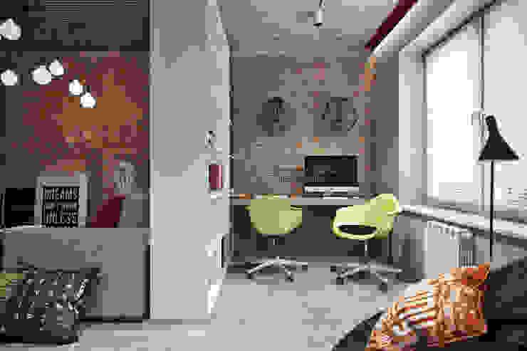 Oficinas de estilo industrial de Студия архитектуры и дизайна Дарьи Ельниковой Industrial
