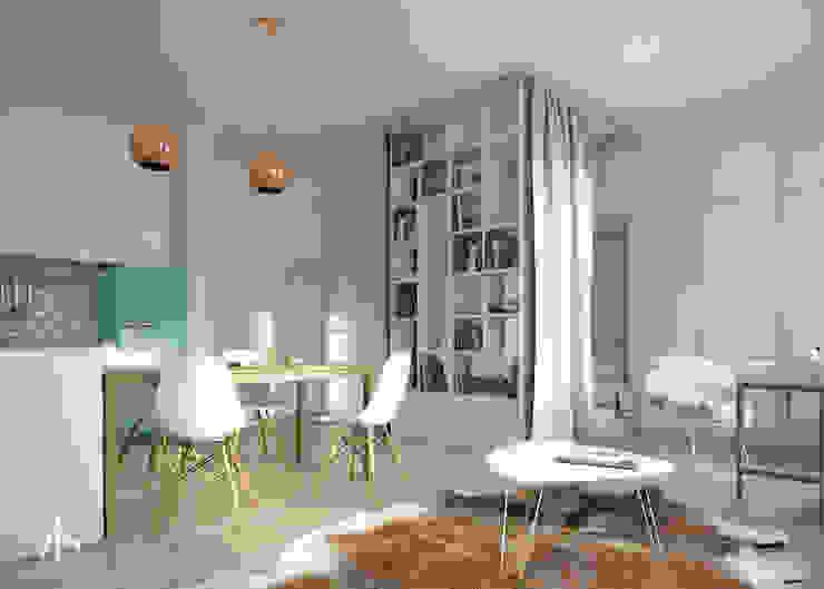 Living room by Kamińska Stańczak, Scandinavian