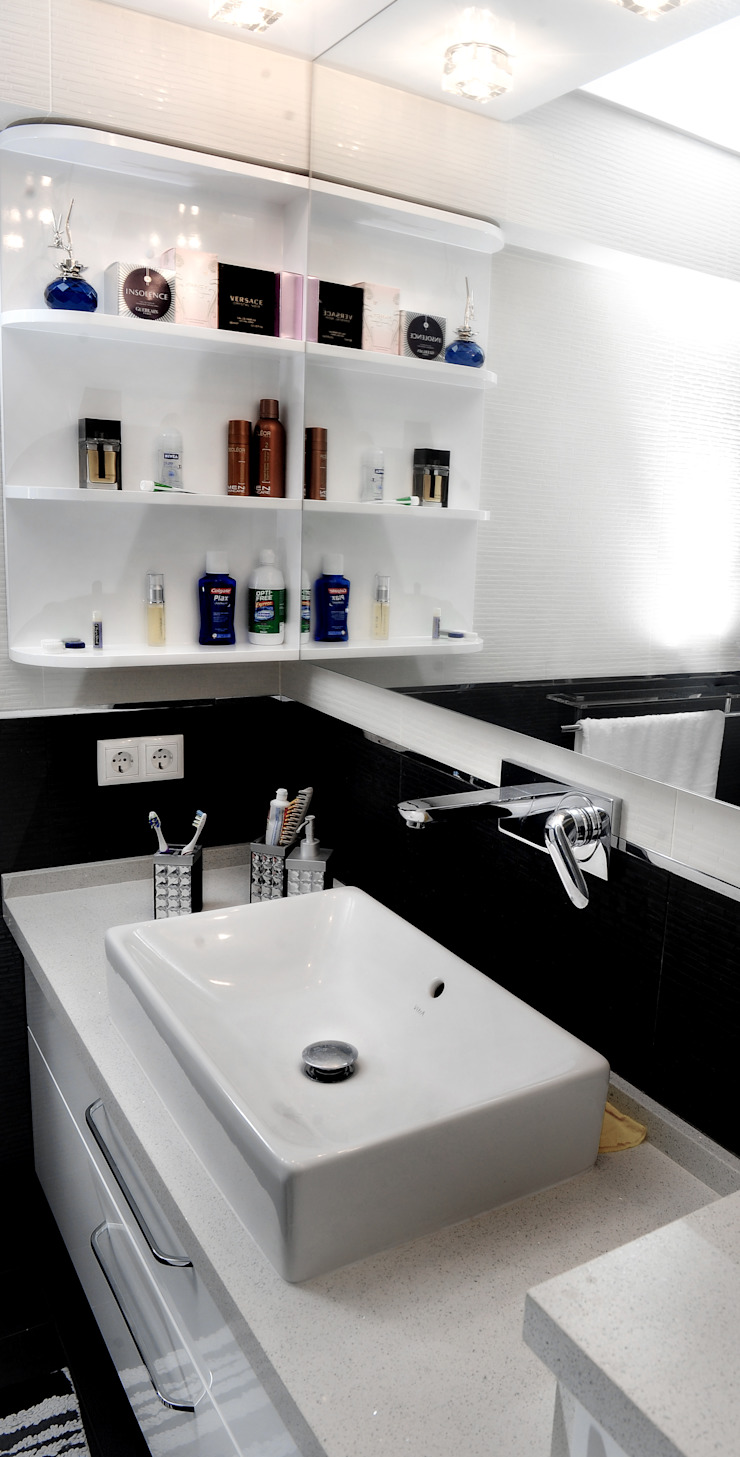 C.A.ŞEKERCİ ALSANCAK EVİ Modern Banyo As Tasarım - Mimarlık Modern
