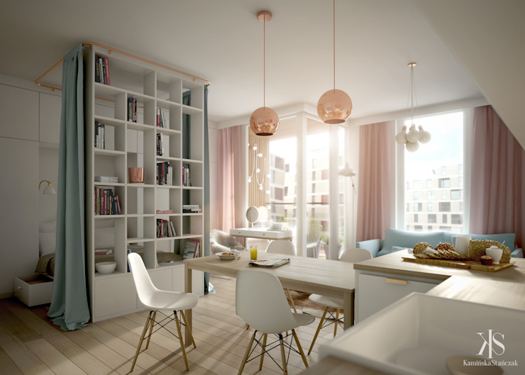 Kamińska Stańczak Scandinavian style dining room