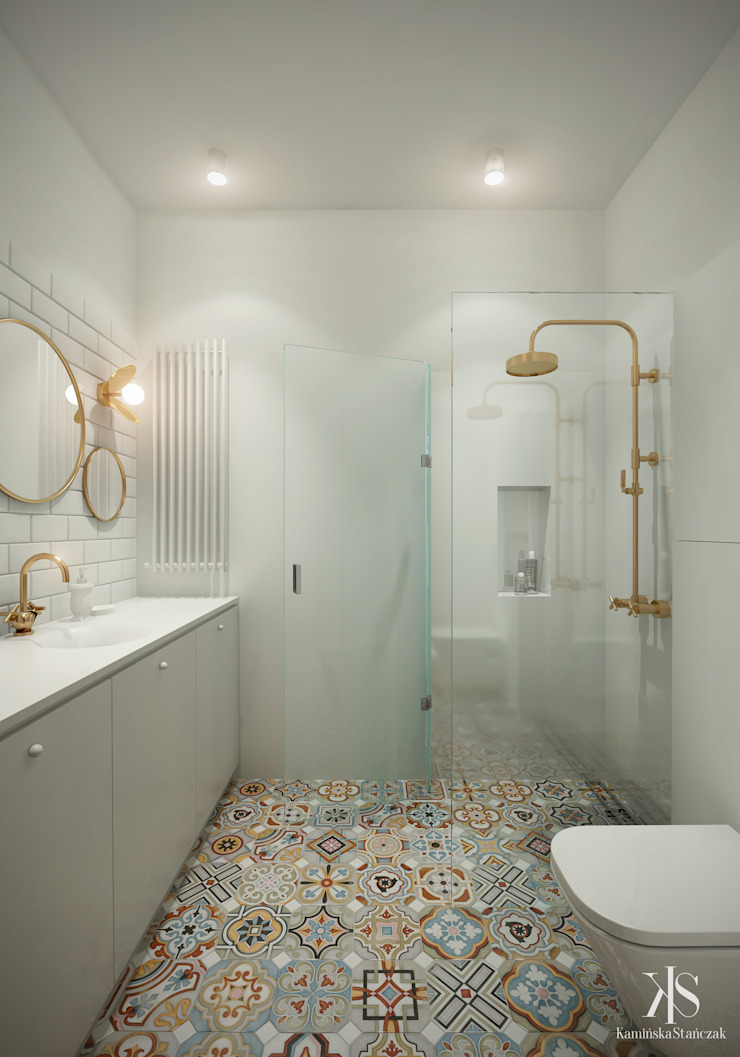Scandinavian style bathroom by Kamińska Stańczak Scandinavian