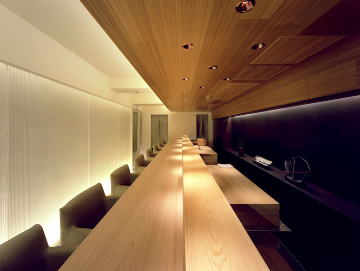 Sushi-sho NAKAGAWA TotalDesignWorks ROOT Gastronomía de estilo minimalista