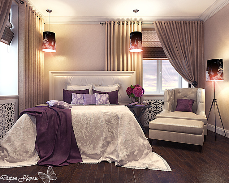 Bedroom with lilac Спальня в классическом стиле от Your royal design Классический