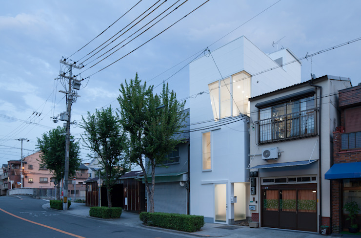 外観(夜景) ミニマルな 家 の 井戸健治建築研究所 / Ido, Kenji Architectural Studio ミニマル