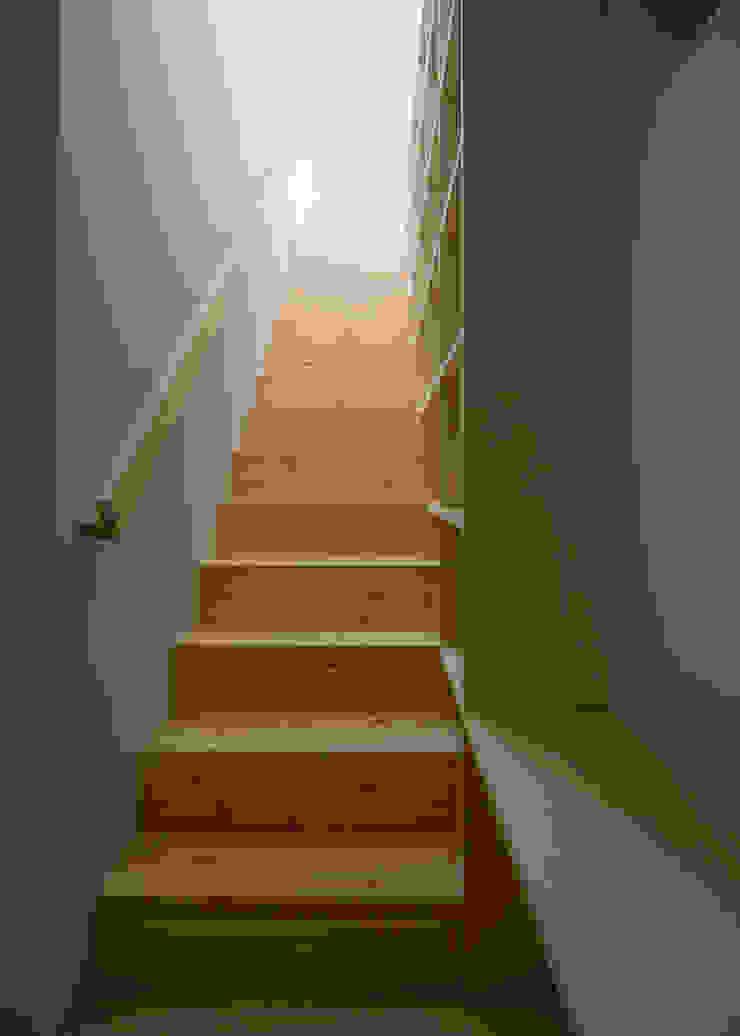 1〜2階階段 北欧スタイルの 玄関&廊下&階段 の 井戸健治建築研究所 / Ido, Kenji Architectural Studio 北欧