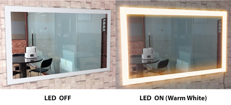 벽걸이형 4면 LED - 전구색: 주식회사 에이티옵트로닉스 (AT Optronics Corporation)의 현대 ,모던