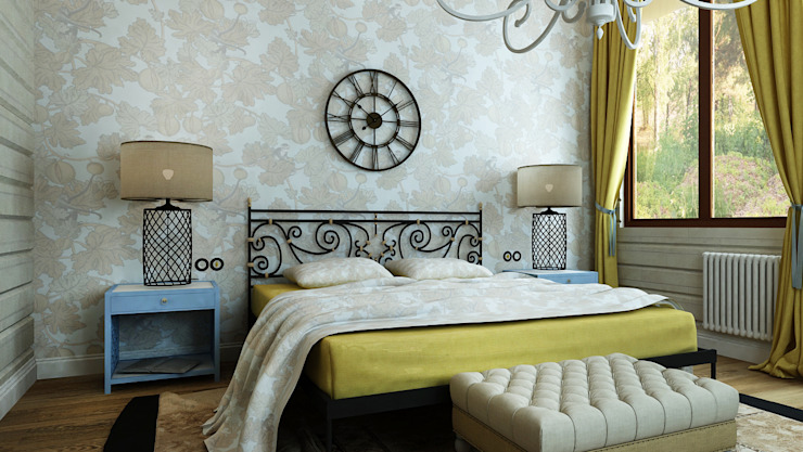 Eclectic style bedroom by Apolonov Interiors Eclectic