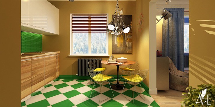 Дизайн проект квартиры г. Нижний Новгород Кухни в эклектичном стиле от Apolonov Interiors Эклектичный