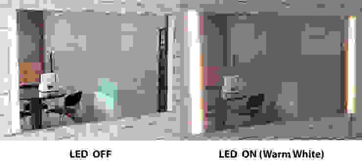 벽걸이형 2면 LED - 전구색: 주식회사 에이티옵트로닉스 (AT Optronics Corporation)의 현대 ,모던