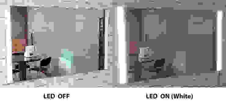 벽걸이형 2면 LED - 백색: 주식회사 에이티옵트로닉스 (AT Optronics Corporation)의 현대 ,모던
