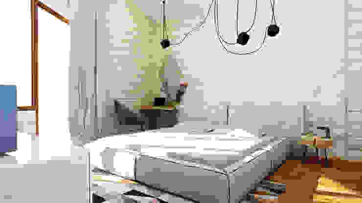 Дизайн проект загородного дома п. Бурцево Спальня в стиле минимализм от Apolonov Interiors Минимализм