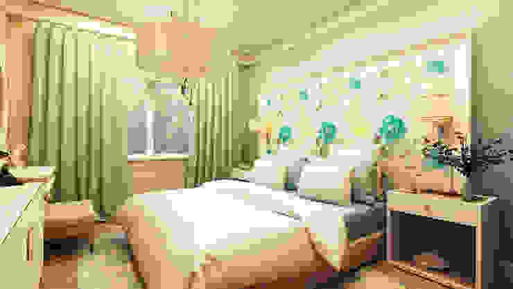Дизайн проект квартиры г. Нижний Новгород Спальня в эклектичном стиле от Apolonov Interiors Эклектичный