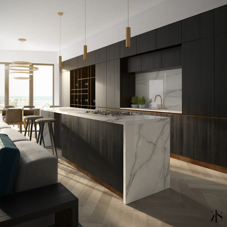 Kamińska Stańczak Modern style kitchen