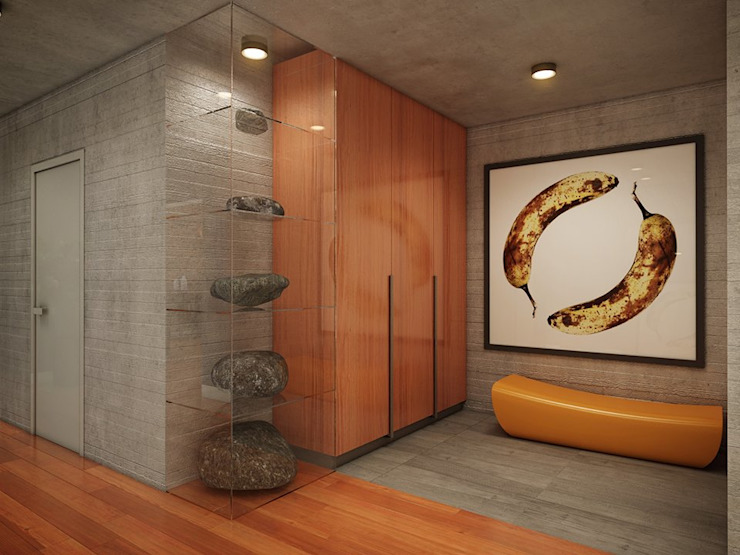 Privat Apartments in Novosibirsk Eclectic style corridor, hallway & stairs by EVGENY BELYAEV DESIGN Eclectic
