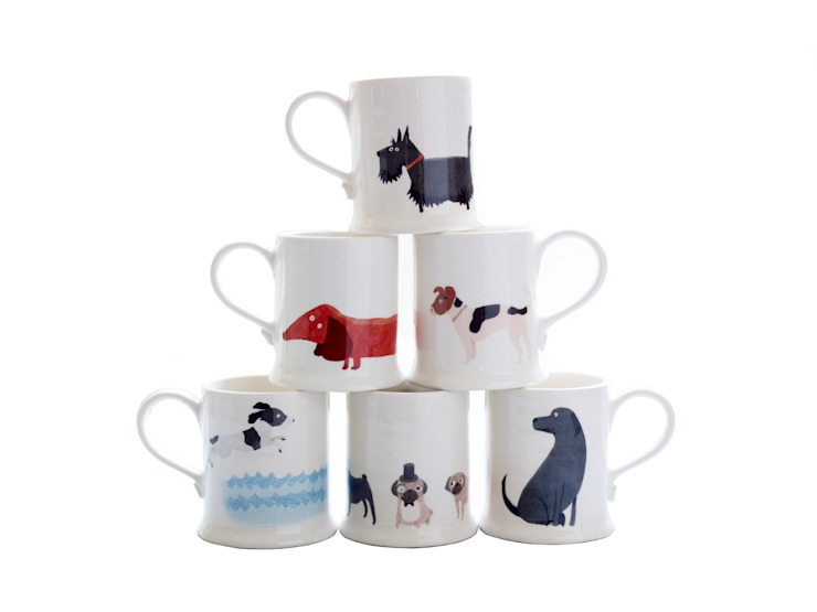 Fenella Smith Animal Mugs, from £14.50: eclectic  by Fenella Smith, Eclectic
