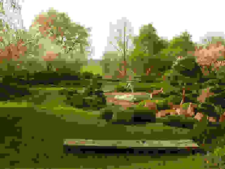 japanischer Landschaftsgarten mit Aussicht Asiatischer Garten von ROJI Japanische Gärten Asiatisch