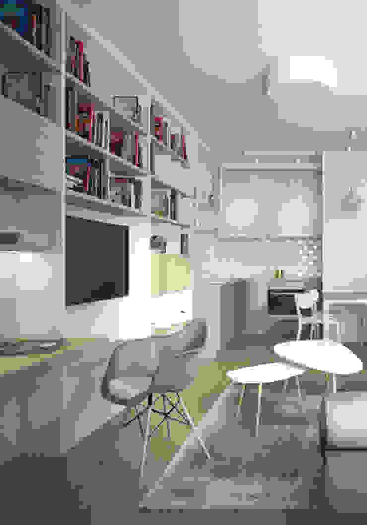Mieszkanie w Warszawie Klasyczny salon od Kamińska Stańczak Klasyczny