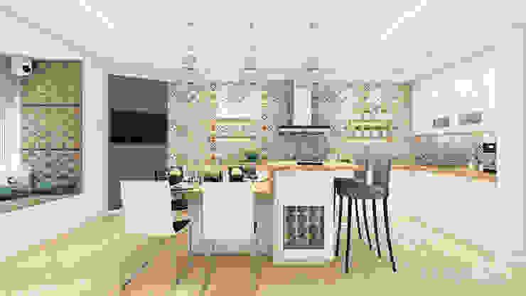 モダンな キッチン の «Artinterior» – Студия дизайна интерьера モダン