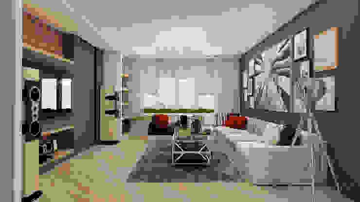 Дизайн интерьера квартиры в Киеве от «Artinterior» Гостиная в стиле модерн от «Artinterior» – Студия дизайна интерьера Модерн