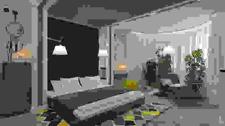 モダンスタイルの寝室 の «Artinterior» – Студия дизайна интерьера モダン