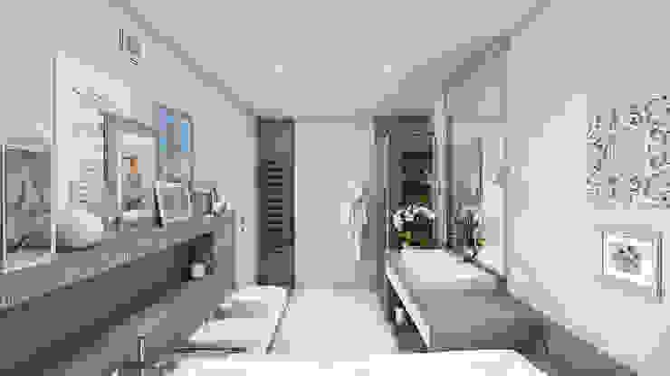 モダンスタイルの お風呂 の «Artinterior» – Студия дизайна интерьера モダン
