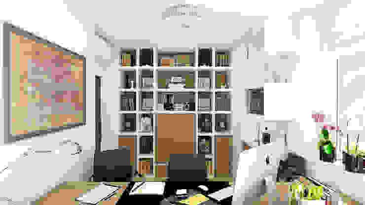 モダンデザインの 書斎 の «Artinterior» – Студия дизайна интерьера モダン