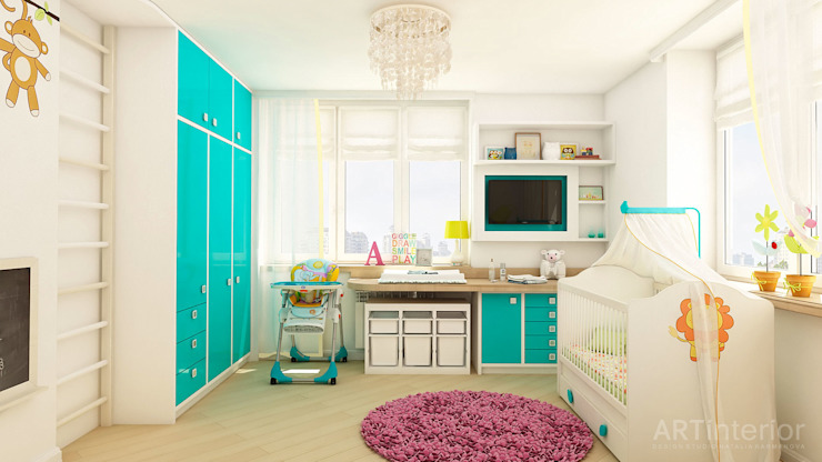 Дизайн интерьера квартиры в Киеве от «Artinterior» Детская комната в стиле модерн от «Artinterior» – Студия дизайна интерьера Модерн
