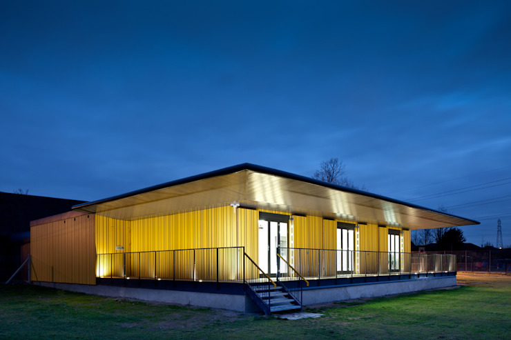 Stone Pavilion Modern schools by Acanthus Architects LW Modern