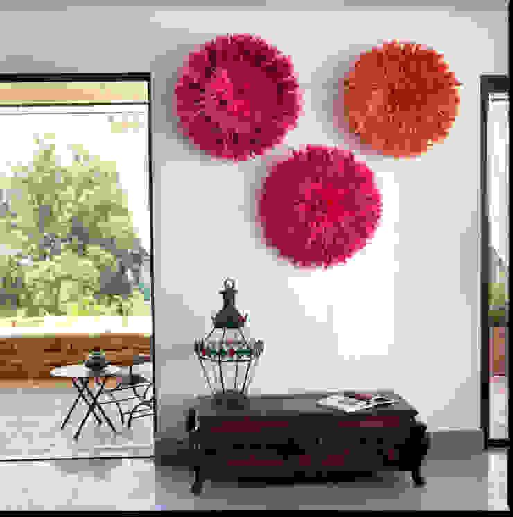 Séjour au premier étage ouvert sur la terrasse par alia bengana architecte Méditerranéen