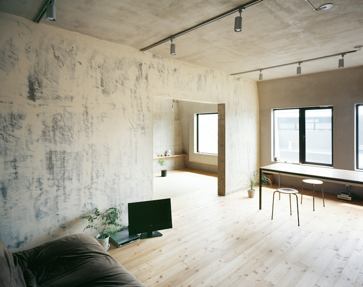 SETAGAYA FLAT Rustic style dining room by 苅部 寛子建築設計事務所 /OFFICE OF KARIBE HIROKO Rustic