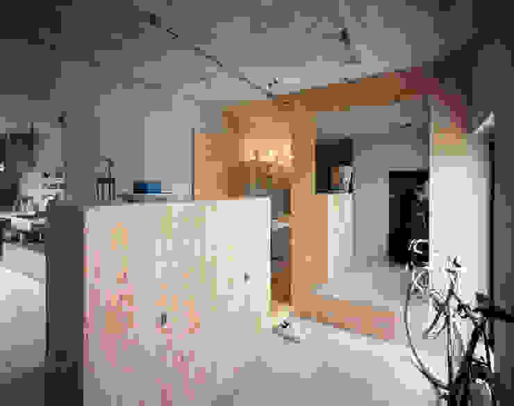 SUGAWAHOUSE ラスティックスタイルの 玄関&廊下&階段 の 苅部 寛子建築設計事務所 /OFFICE OF KARIBE HIROKO ラスティック