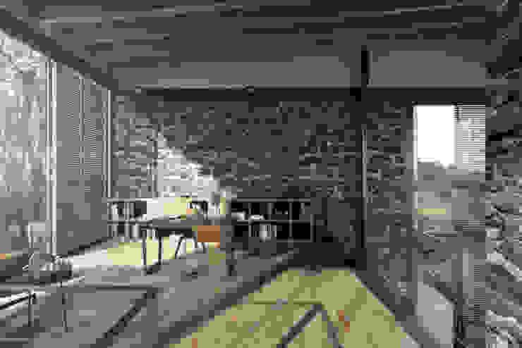 House In Guatemala NATURAL LIGHT DESIGN STUDIO Modern Çalışma Odası
