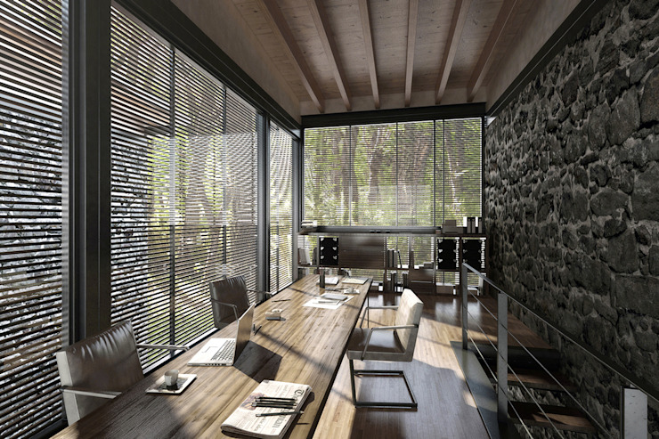 NATURAL LIGHT DESIGN STUDIO Modern study/office