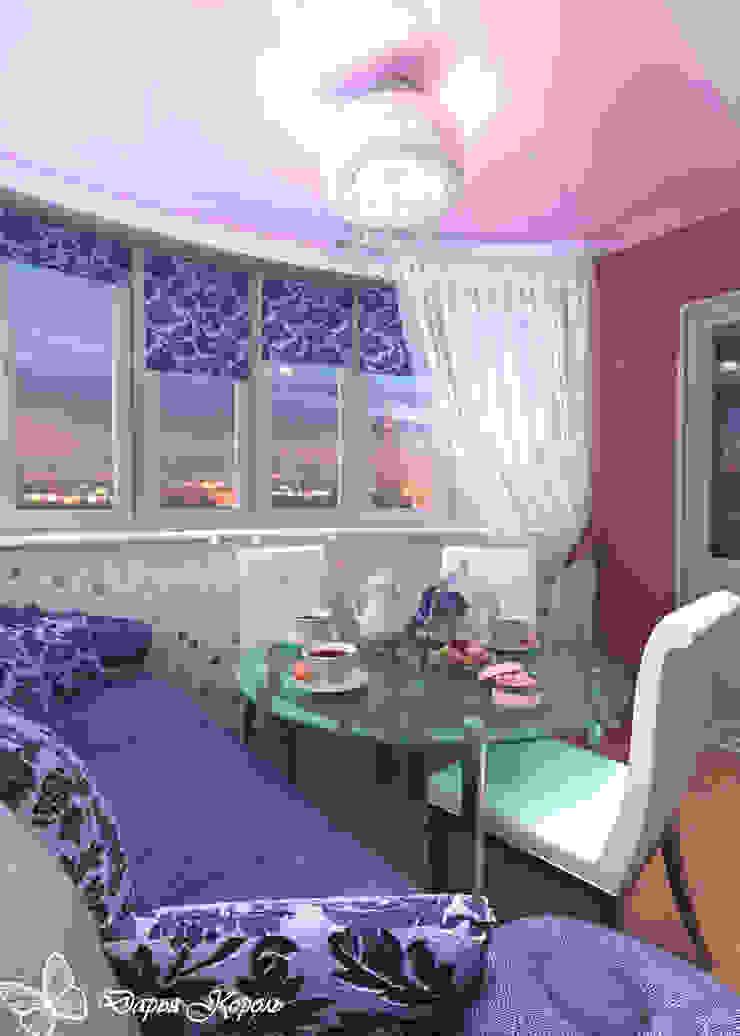 Loggia fuchsia in Minsk Балконы и веранды в эклектичном стиле от Your royal design Эклектичный
