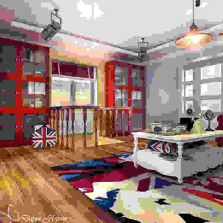 living room Гостиная в стиле кантри от Your royal design Кантри