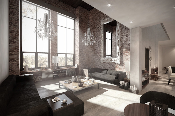 NATURAL LIGHT DESIGN STUDIO – Authentic Lofts:  tarz Oturma Odası