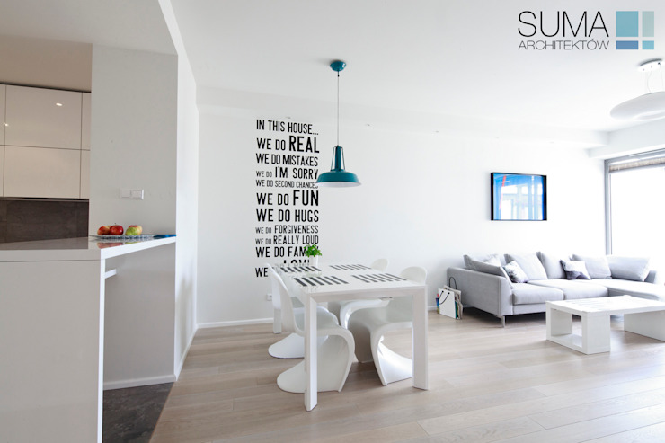 MODERN ONE SUMA Architektów Scandinavian style dining room