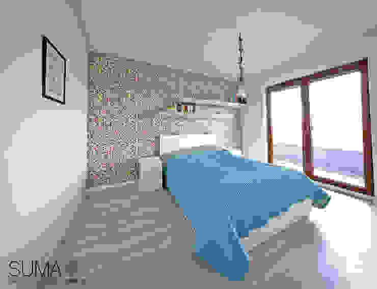 MODERN ONE: styl , w kategorii Sypialnia zaprojektowany przez SUMA Architektów,Skandynawski