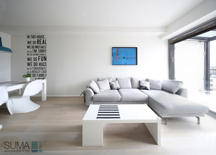 ​MODERN ONE Scandinavian style living room by SUMA Architektów Scandinavian