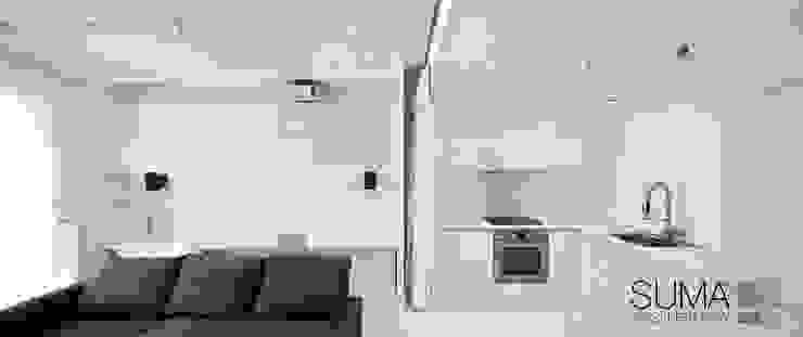 WHITE ONE Minimalistyczna kuchnia od SUMA Architektów Minimalistyczny