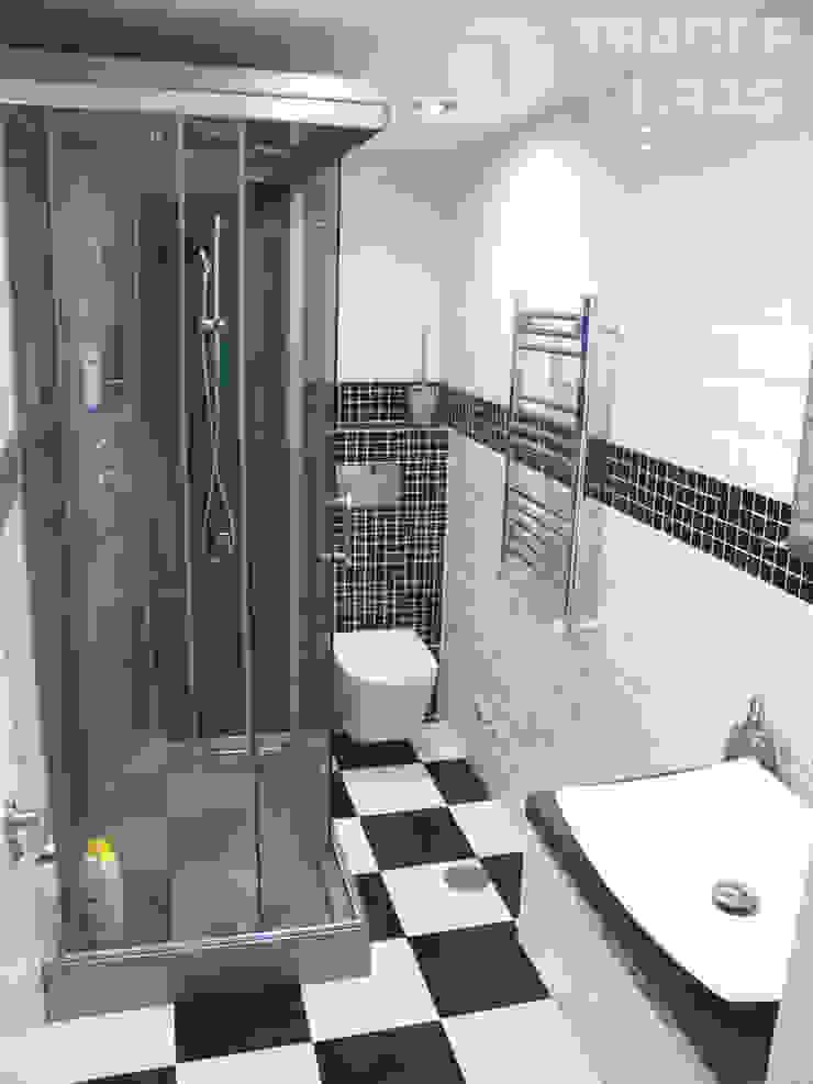 Cuarto de baño principal con cabina de hidromasaje. Baños de estilo moderno de Traber Obras Moderno