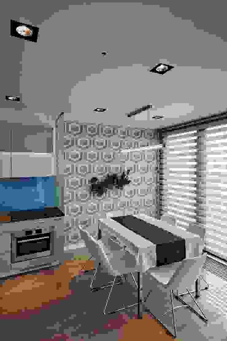 Bliźniak w Pychowicach Minimalistyczna jadalnia od SHOQ STUDIO Architektura i wnętrza Minimalistyczny