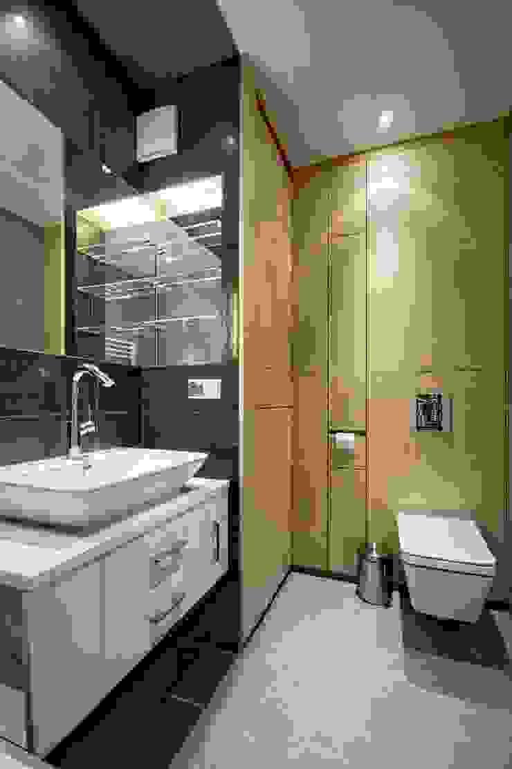 Bliźniak w Pychowicach Minimalistyczna łazienka od SHOQ STUDIO Architektura i wnętrza Minimalistyczny