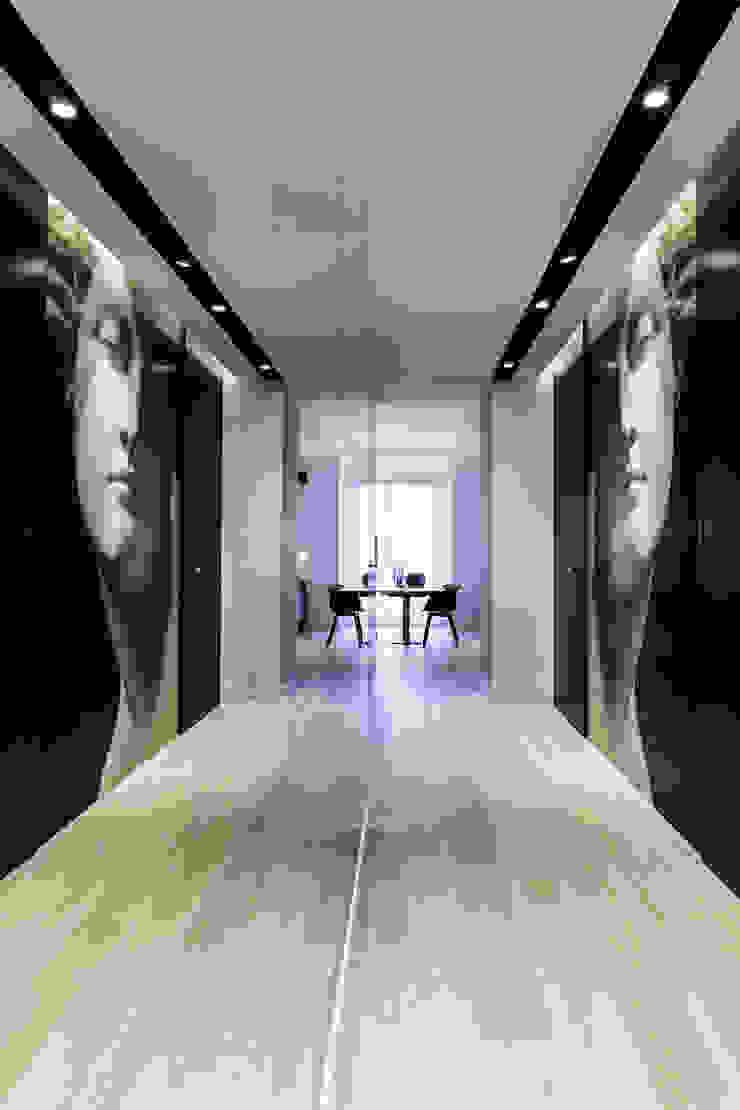 Anna Maria Sokołowska Architektura Wnętrz Minimalist corridor, hallway & stairs