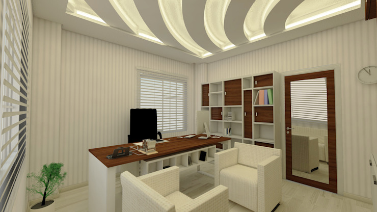 Modern Study Room and Home Office by GÜNAY MİMARLIK Modern