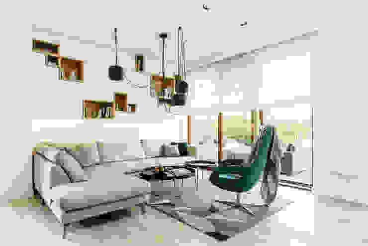 pokój dzienny: styl , w kategorii Salon zaprojektowany przez Anna Maria Sokołowska Architektura Wnętrz ,Minimalistyczny