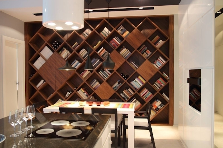 apartament Warszawa Mokotów Minimalistyczna kuchnia od SHOQ STUDIO Architektura i wnętrza Minimalistyczny