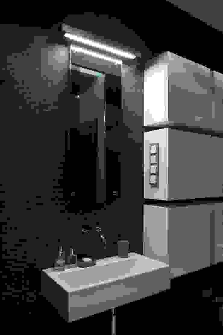 apartament Warszawa Mokotów Minimalistyczna łazienka od SHOQ STUDIO Architektura i wnętrza Minimalistyczny