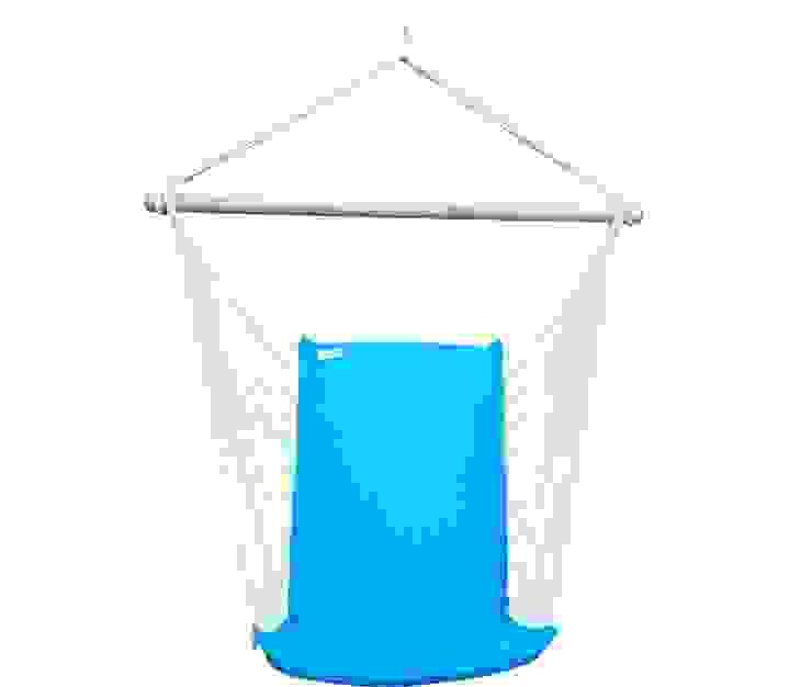 Silla Colgante Brasileña Azul Turquesa con Respaldo de Brasilchic Mediterráneo